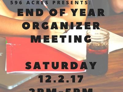 Organizers Meeting in Harlem this Saturday December 2 at 2pm-5pm