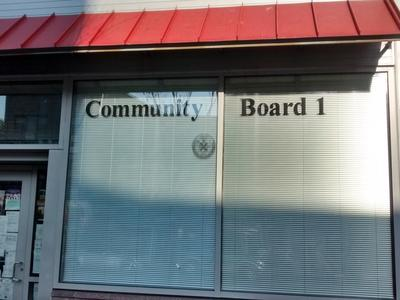 Community Board 1  has been advised.
