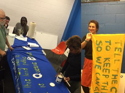 Banner making on Monday